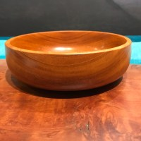 "Cuban Mahogany Bowl by Tom Young 2""H x 6""D"