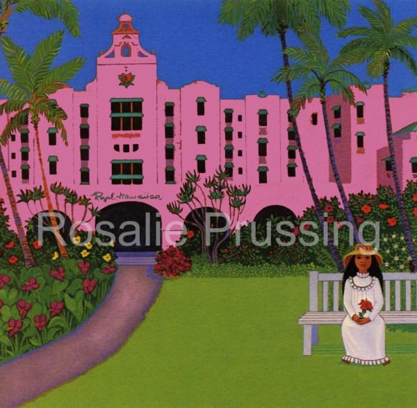 Pink Palace Rosalie Prussing Giclée Print, custom sizes