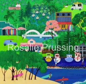 Rainbow Bridge Rosalie Prussing Giclée Print, custom sizes