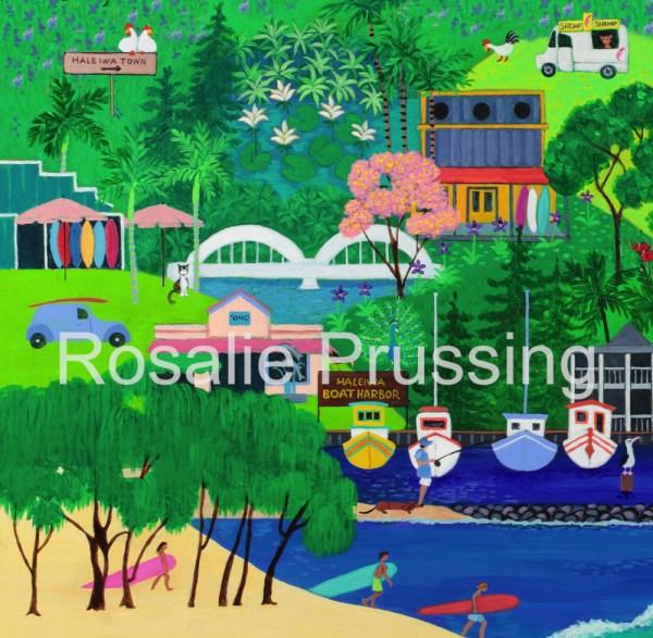 Rainbow Bridge Rosalie Prussing Giclée Print, custom sizes