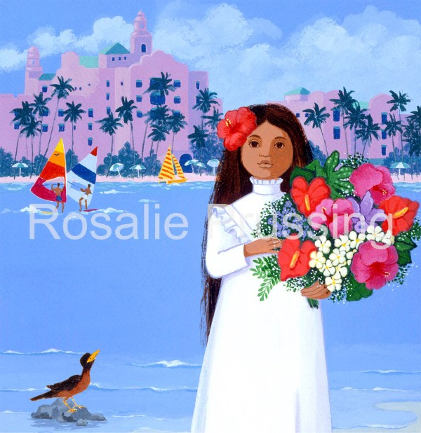 Royal Hawaiian Rosalie Prussing Giclée Print, custom sizes