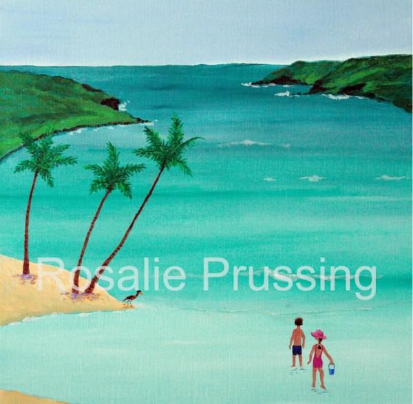 Waters Edge Hanauma Bay Rosalie Prussing Giclée Print, custom sizes