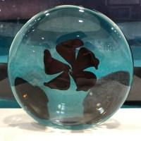 """'Copper & Ruby Flower' by Robert Flowers 1.5""""W x 5.25""""D $200"""