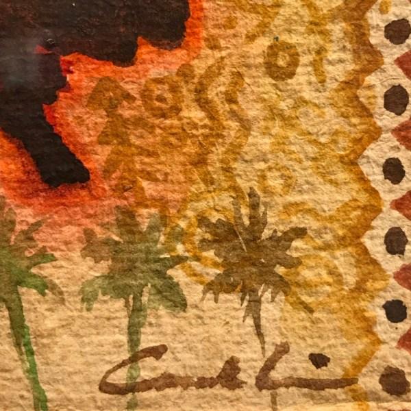 "'Hula Kahiko Wahine' Original Watercolor by Cindy Conklin 17.5""H x 14.5""W in Mango frame $450"