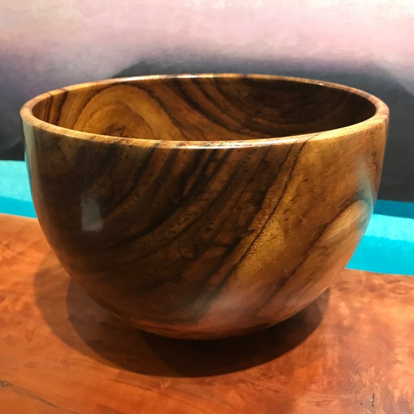 """'Oahu Koa Bowl' by John Berthiaume 6""""H x 8.75""""D $700"""