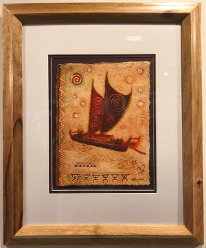 "'Wa'a' Original Watercolor by Cindy Conklin 23.5""H x 19.5""W $1000"