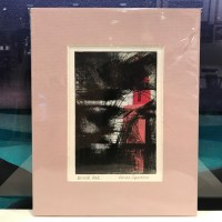 """'Black Out' Monoprint by Linda Spadaro 10""""x 8"""" matted $25"""