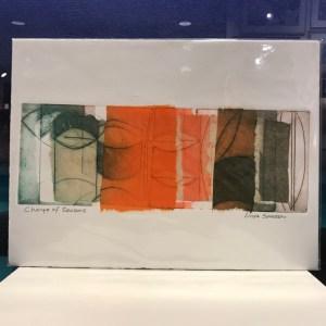 "'Change of Seasons' Original Monoprint by Linda Spadaro 11""x 15"" matted $60"