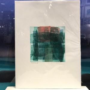 "'Gridlock II' Original Monoprint by Linda Spadaro 15""x 11.25"" matted $40"