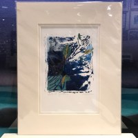 """'Let It Grow' Original Monoprint by Anne Irons 14""""x 11"""" matted $85"""