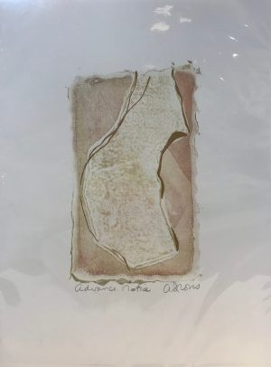 "'Advance Notice' Original Monoprint by Anne Irons 12""x 9"" $55"