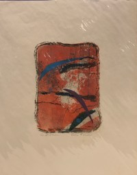 "'Air Force' Original Monoprint by Anne Irons 14""x 11"" $60"
