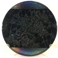"""Dichroic Fused Glass Plate by Kurt McVay 11.75""""D $168"""