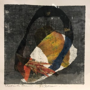 "'Flash in the Pan' Original Monoprint by Anne Irons 11.25""x 11"" $70"