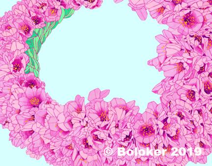 Cherry Blossom Lei Print by Judd Boloker, various sizes