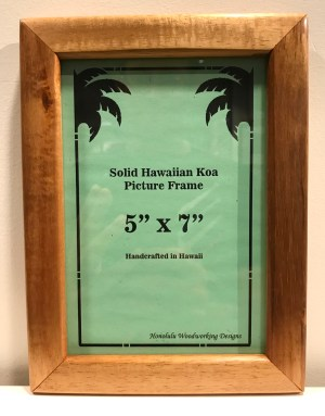 "Solid Koa Frame 5""x 7"" (representative) by Honolulu Woodworking Designs $50.50"