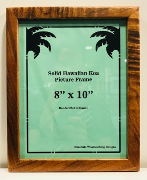 "Solid Koa Frame 8""x 10"" (representative) by Honolulu Woodworking Designs $75"