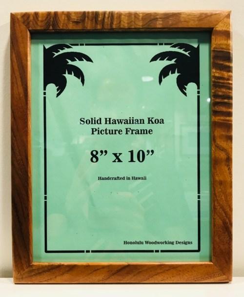 "Solid Koa Frame 8""x 10"" (representative) by Honolulu Woodworking Designs $75"