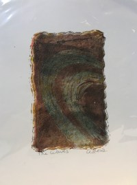 """'The Waves' Original Monoprint by Anne Irons 12""""x 9"""" $50"""