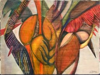 """'Time Out For Lovebirds' Original Watercolor by Anne Irons 22""""x 30"""" $980"""