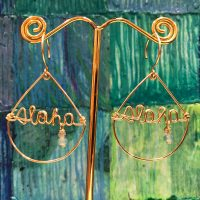 'Aloha Teardrop Earrings' with Amazonite by Leinai'a $78