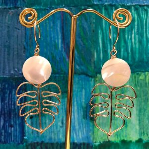 'I Love Hawaii Earrings' with Mother of Pearl by Leinai'a $78
