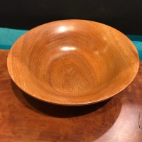 "Ipe Dish by Andy Cole 2.5""H x 8""D $185"