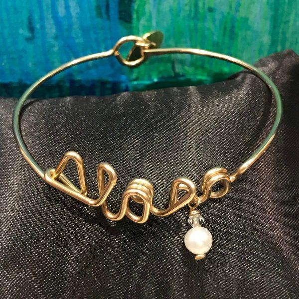 'Small Aloha Bracelet' with Pearl by Leinai'a $68