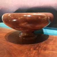 "Kamani Bowl by Albert Koorenhof 4.75""H x 9""D $595"
