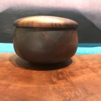 "Lidded Milo Umeke by Gordon Tang 4.5""H x 7""D $450"