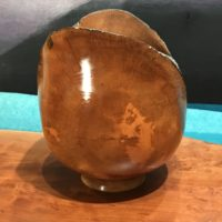 "Longan Natural Edge Bowl by Eric LeBuse 6""H x 5.5""D $495"