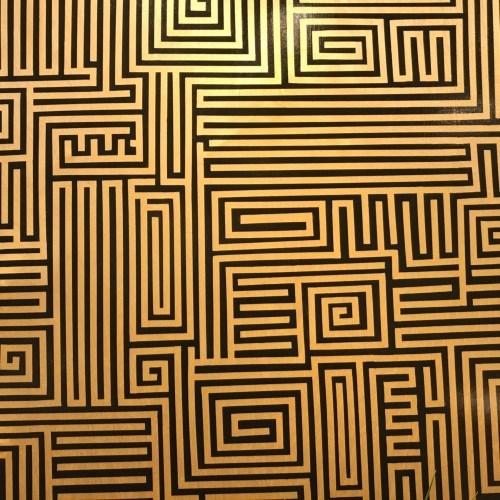 "'Black Maze' Labyrinth Original Acrylic on Birch by Joe Hickson 36""x 48"" $2500"