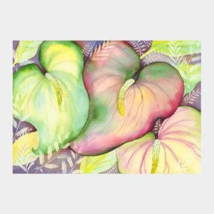 'Anthurium Trio' watercolor by Jocelyn Cheng, Giclée print, several sizes