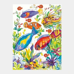'Hawaiian Reef Fish #2' watercolor by Jocelyn Cheng, Giclée print, several sizes