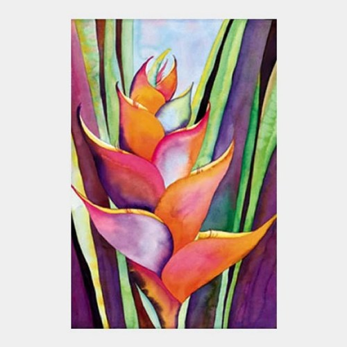 'Tropical Heliconia' watercolor by Jocelyn Cheng, Giclée print, several sizes