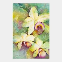 'Orchid Medley' watercolor by Jocelyn Cheng, Giclée Print, several sizes
