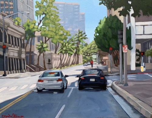 """'Downtown' Original Acrylic Painting on Canvas 14""""x 18"""" by Brenda Cablayan $1400"""