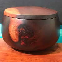"Lidded Milo Umeke by Gordon Tang 4""H x 5.5""D $295"