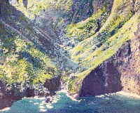 "Moloka'i Pali #4 Original Acrylic on Canvas by Cindy Conklin 16""H x 20""W $1000"