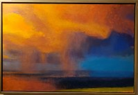 """'The Blue Beyond' Original Pastel and Oil Painting 25.5""""H x 37.5""""W by Diana Lehr $7250"""