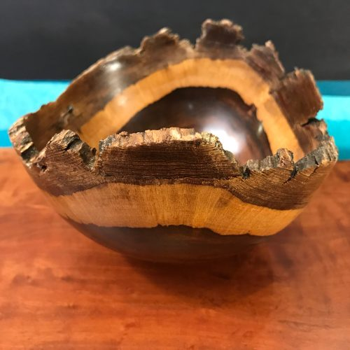 """Natural Edge Geiger Bowl 4""""H x 6.5""""W x 6""""D by Andy Cole $275"""