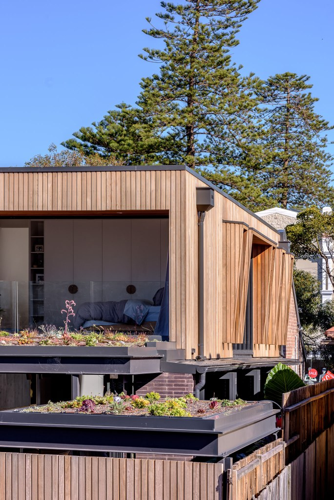 sustainable material cedar cladding