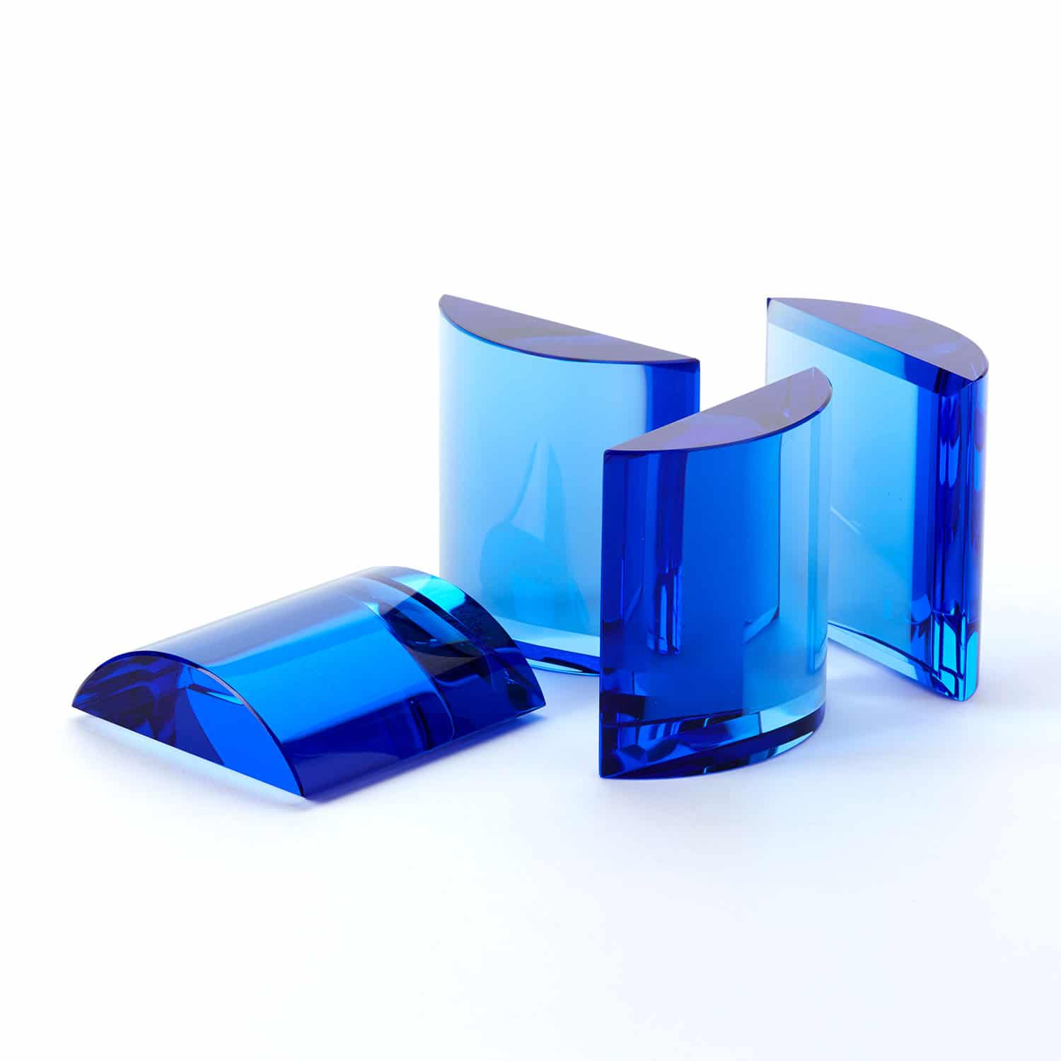 Abstract Form No 3 Blue Glass Dome
