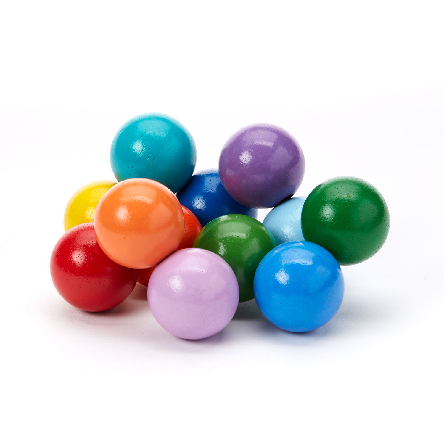 Toy Wood Colored Balls