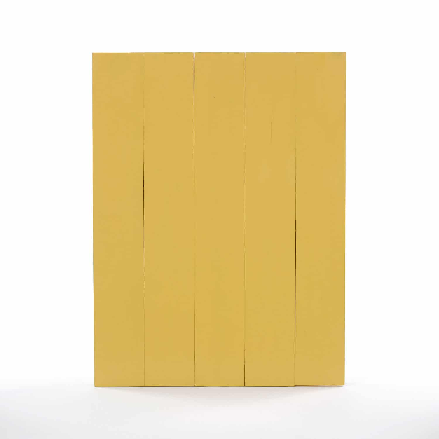 Wood Form No 12 Yellow Amp Red Painted Round