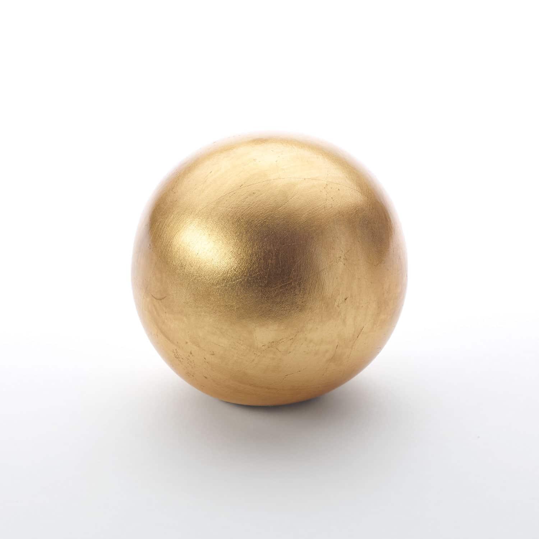 Gold Leaf Sphere No 3