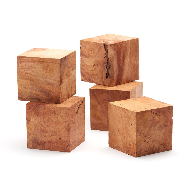 Burl Wood Cube