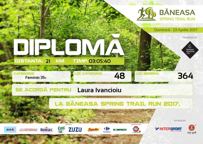 Diploma Baneasa Trail Run