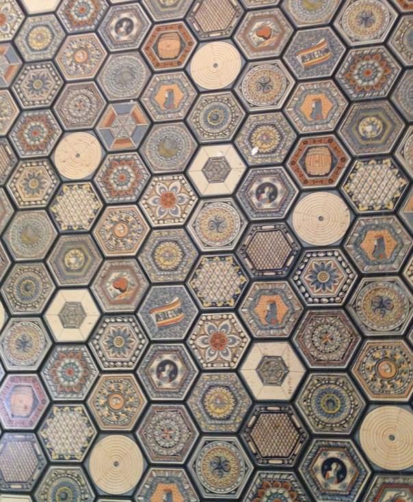 Tiles in lobby of Hotel Figueroa