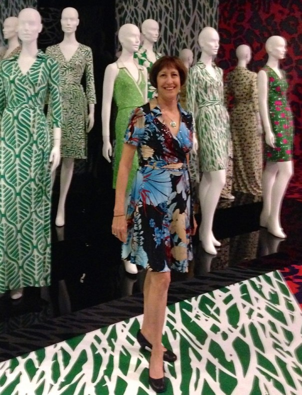 At the DVF show in my dress